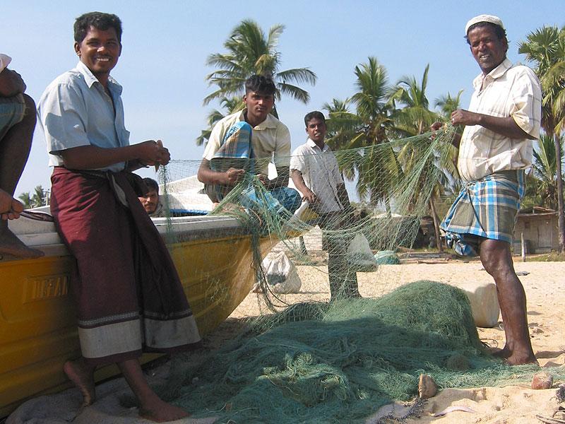 Rybacy w Arugam Bay