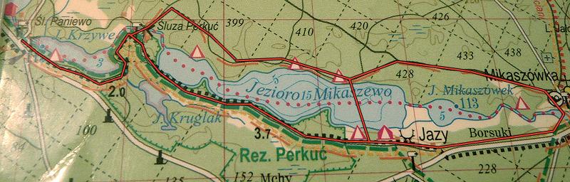 Trasa na biegówki w Mikaszówce