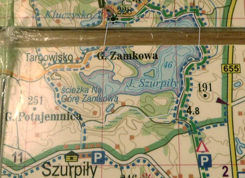 Na biegówkach na Górę Zamkową