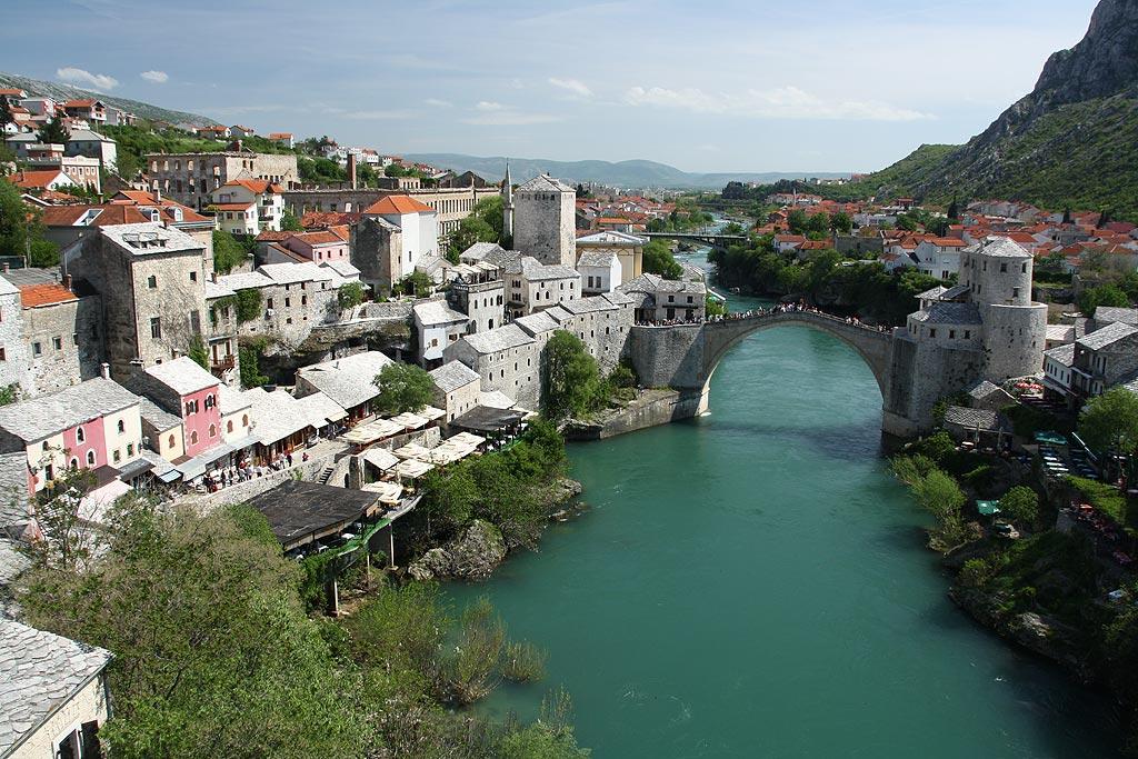 Mostar, widok z minaretu