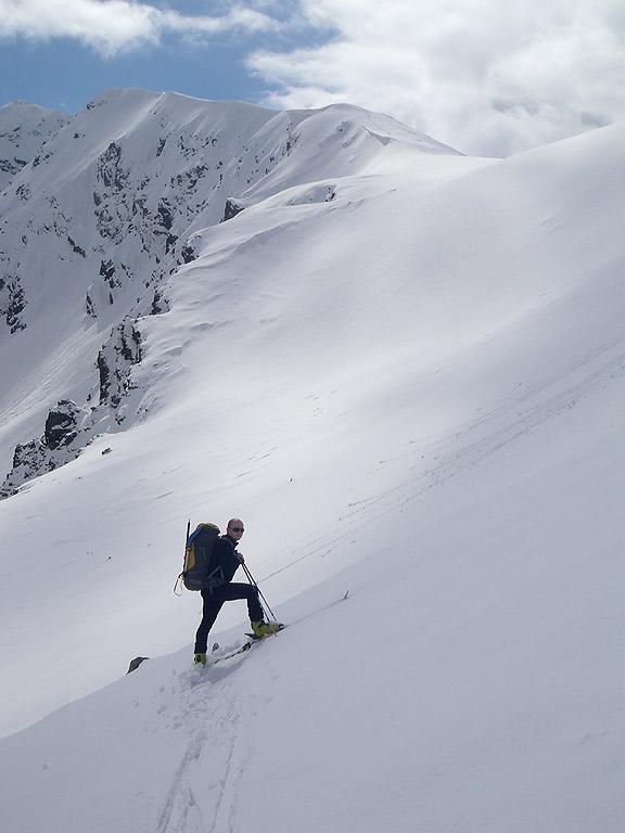 Przełęcz Liliowe, widok z Beskidu