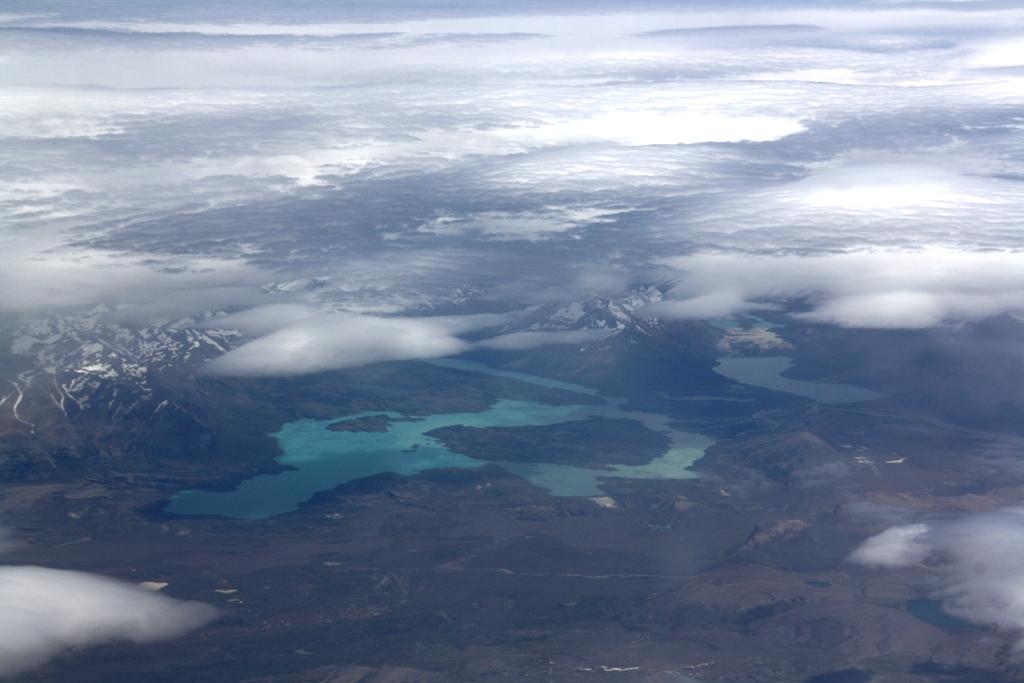 Patagonia z samolotu Bariloche - El Calafate