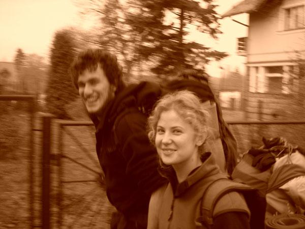 W drodze na Skalnik ze stacji kolejowej w Janowicach Wielkich.