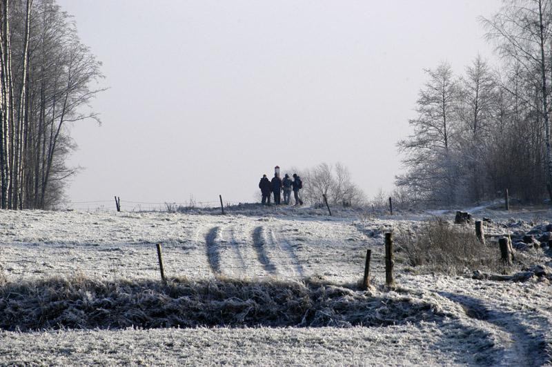 Przekraczamy granicę na dziko! Zdjęcie W. Barański 2007