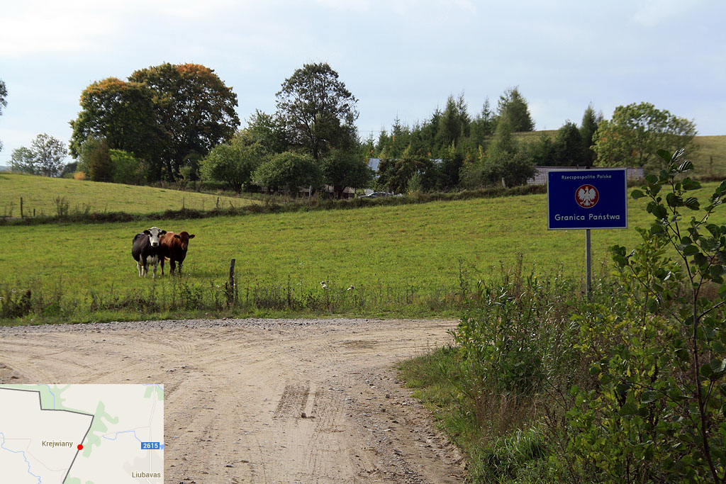 Szutrowy łącznik graniczny między Krejwianami a Liubavas.