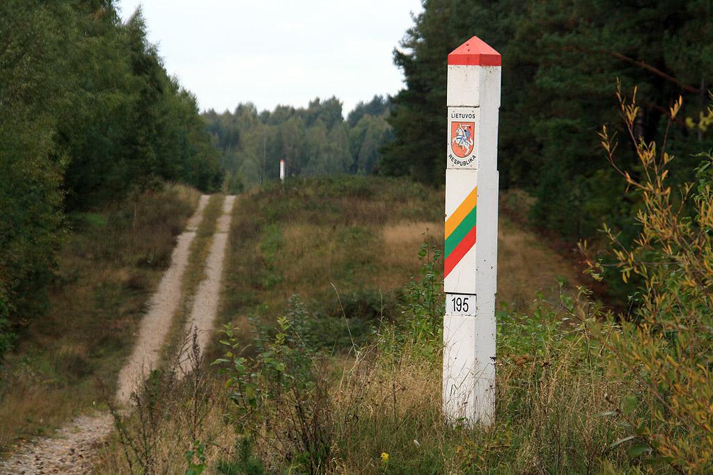 Pas graniczny niedaleko Wiłkupii.