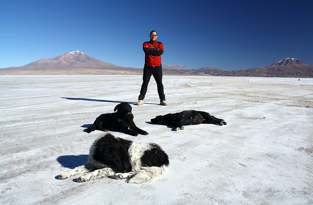 King of Perritos. First moments on salar desert.