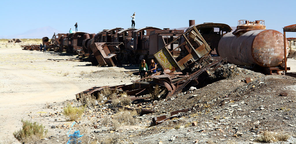 Cemetery of trains in Uyuni