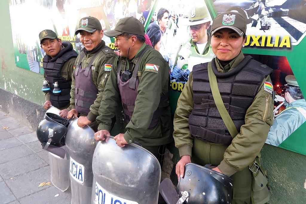 Wojsko ubezpieczające protest masarzy