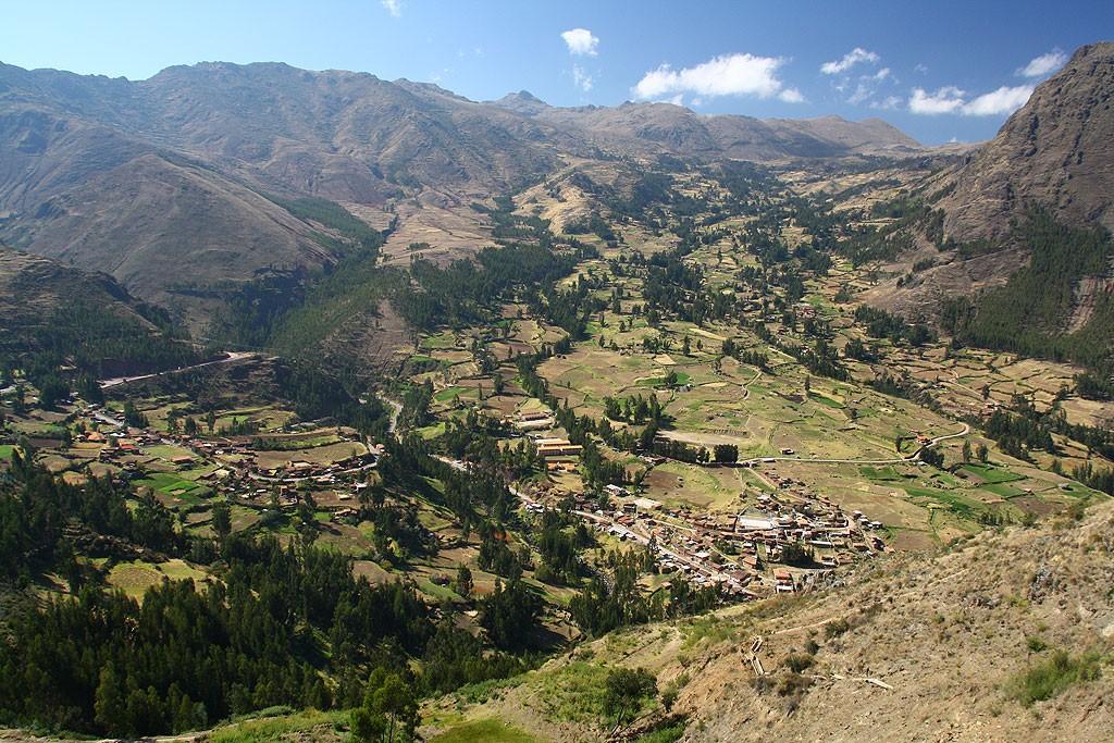 Widoki z inkaskiej fortecy Pisac