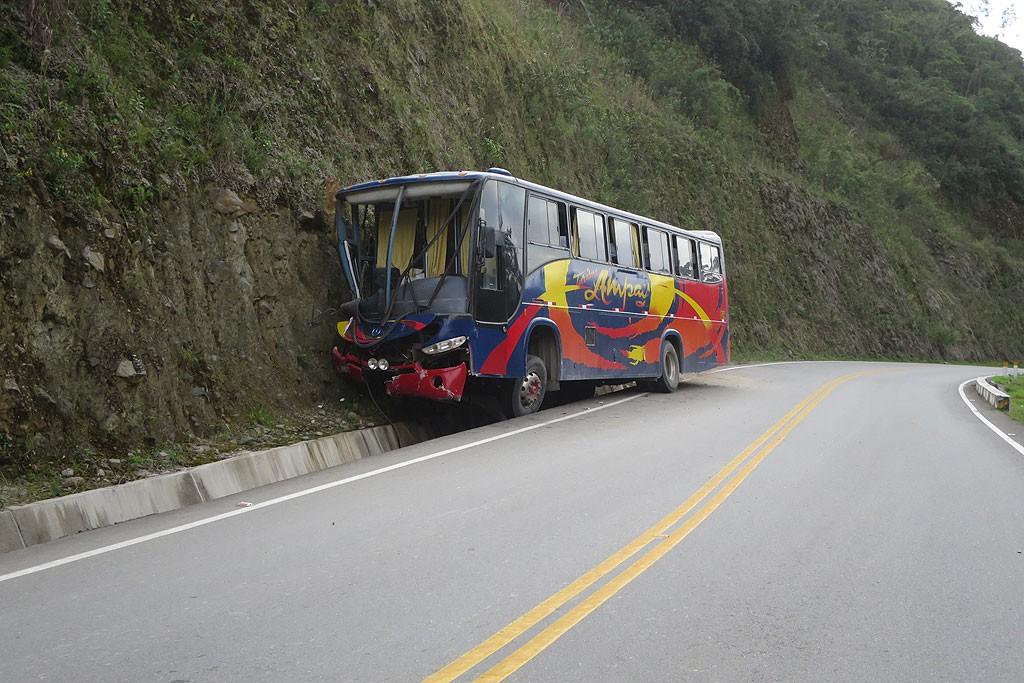 Wracamy do Ollantaytambo, dwa dni wczesniej tego autobusu tu nie bylo.