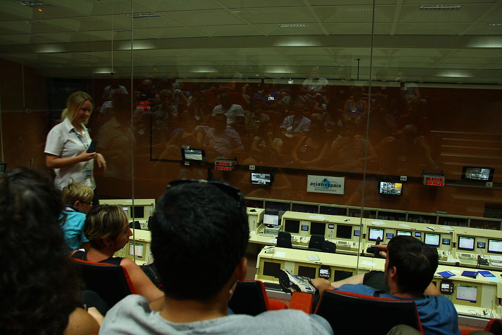 Stacja kontroli lotów Ariane-5, położona