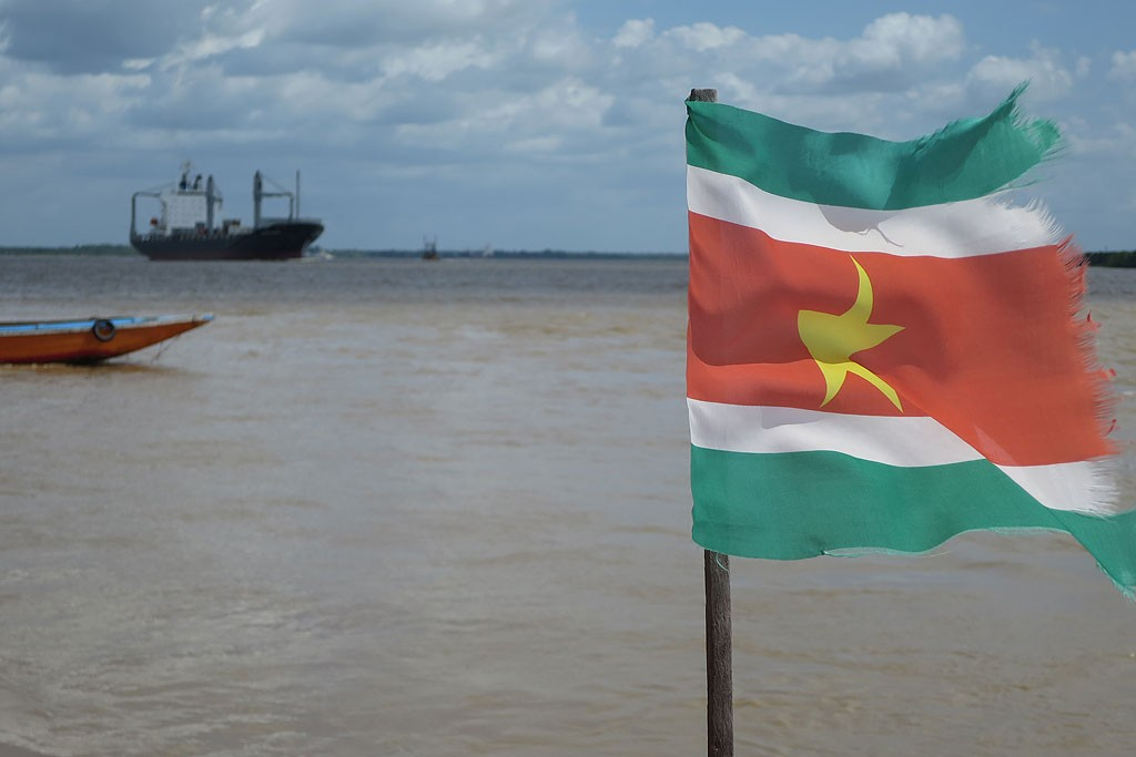 Ujście rzeki Suriname River