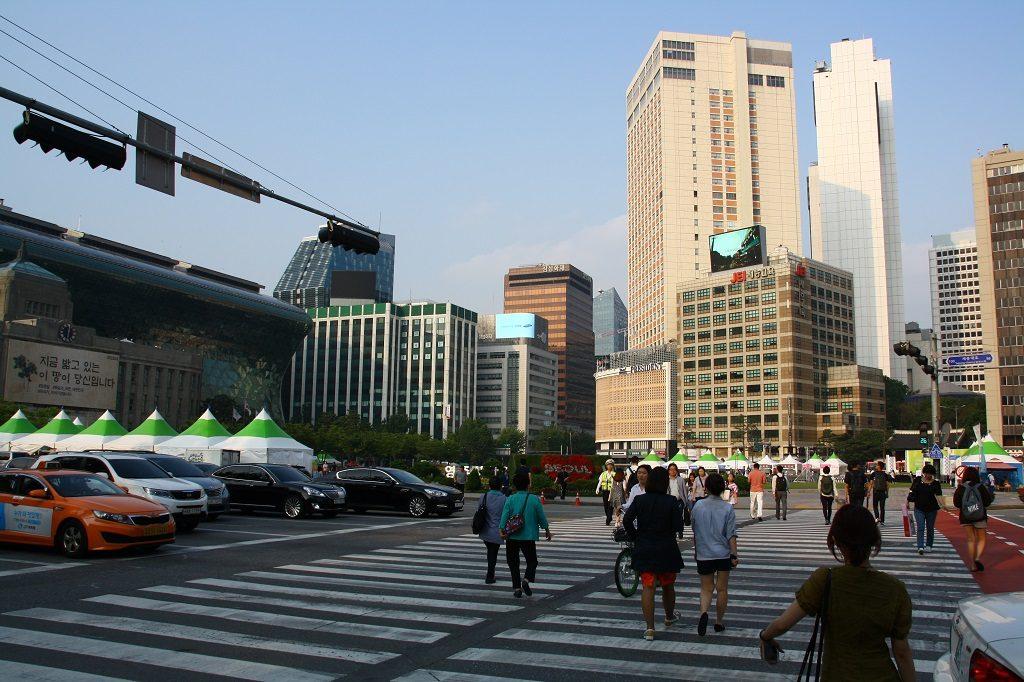 Seul Plaza - po lewej stronie ratusz miejski